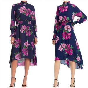 NWT Nanette Lepore Smocked Midi Dress